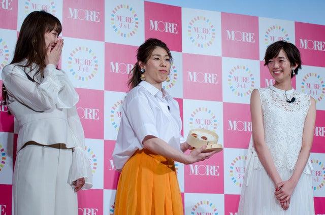 女性ファッション誌『MORE』のモアチャレ宣言プレス発表会(2017年3月28日)撮影:五味渕秀行