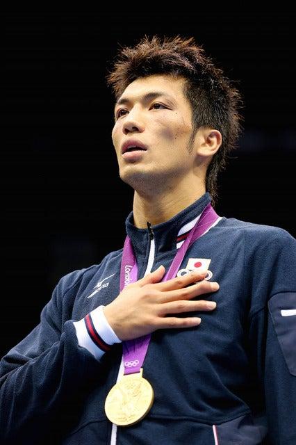 ロンドン五輪ボクシングミドル級で村田諒太が金メダルを獲得(2012年8月11日)(c) Getty Images