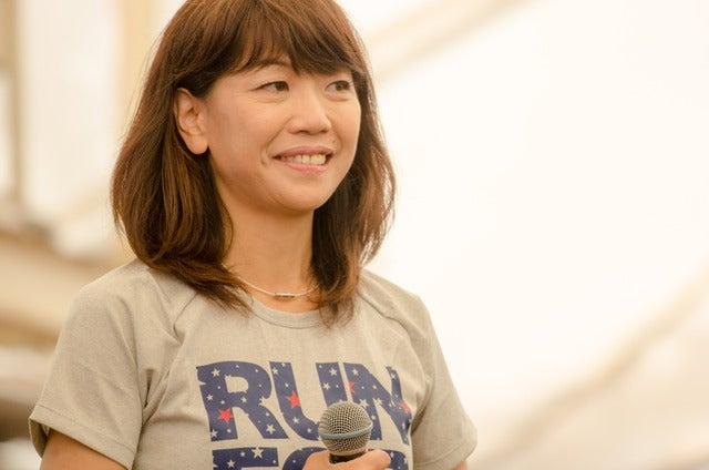 高橋尚子がグアムマラソンインターナショナル2016エキスポでトークショー(2016年4月9日)撮影:五味渕秀行