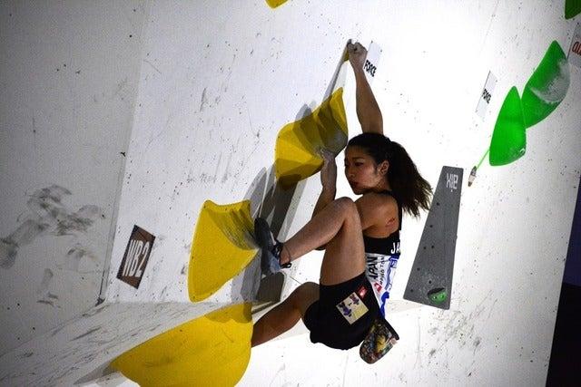 ボルダリングW杯、予選を野中生萌が振り返る「一番緊張した予選でした」撮影者:大日方航