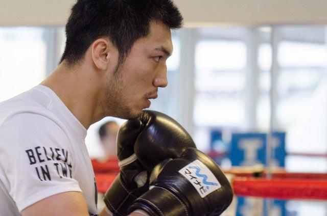 世界タイトルマッチに備えて帝拳ジムでトレーニングをする村田諒太撮影:五味渕秀行