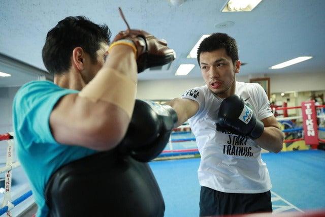 世界タイトルマッチに備えて帝拳ジムでトレーニングをする村田諒太画像提供:ナイキジャパン