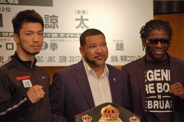 WBA世界ミドル級王座決定戦 調印式・記者会見(2017年5月18日)撮影:北川雄太