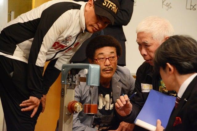 ロンドンオリンピック金メダリスト・村田諒太選手の世界初挑戦となるタイトルマッチ、WBA世界ミドル級王座決定戦の公開軽量が5月19日、都内で行われた。撮影者:大日方航