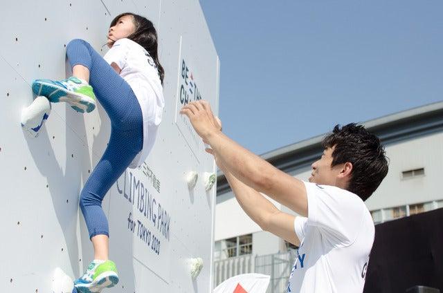 『三井不動産クライミングパーク for TOKYO 2020』で日本代表選手によるクライミングアカデミーが開催(2017年5月20日)撮影:五味渕秀行
