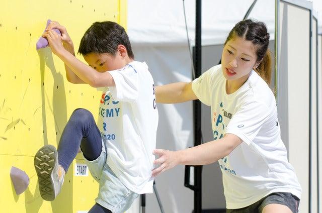 『三井不動産クライミングパーク for TOKYO 2020』で野中生萌ら日本代表選手によるクライミングアカデミーが開催(2017年5月20日)撮影:五味渕秀行