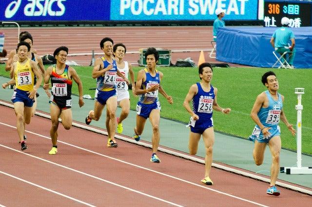 第101回日本陸上競技選手権大会男子1500m決勝(2017年6月24日)撮影:五味渕秀行