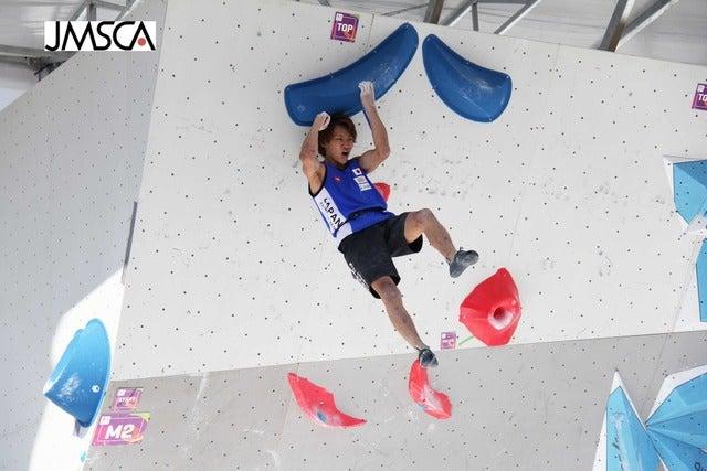 第10回ワールドゲームズ、男子ボルダリングで緒方良行が金メダルを獲得(2017年7月21日)画像提供:日本山岳・スポーツクライミング協会