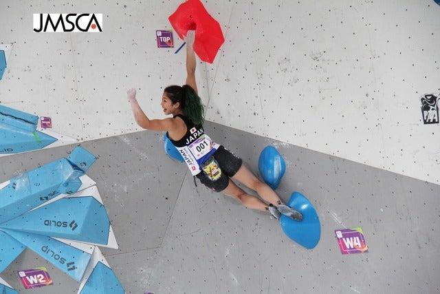 第10回ワールドゲームズ、女子ボルダリングで野中生萌が銀メダルを獲得(2017年7月21日)画像提供:日本山岳・スポーツクライミング協会