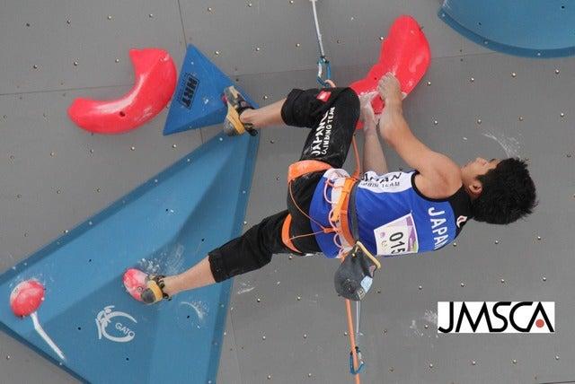 第10回ワールドゲームズ、男子リードで是永敬一郎が金メダル(2017年7月23日)画像提供:日本山岳・スポーツクライミング協会