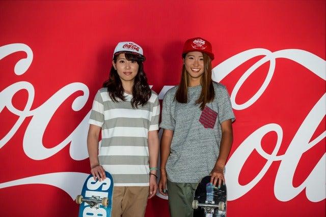スケートボード コカ・コーラ契約選手の西村詞音(左)と西村碧莉画像提供:日本コカ・コーラ