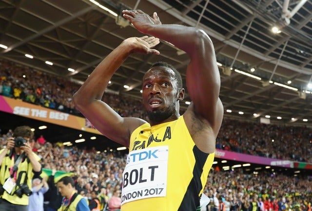 世界陸上ロンドン大会 男子100メートル決勝は3位に終わったウサイン・ボルト(2017年8月5日)(c) Getty Images