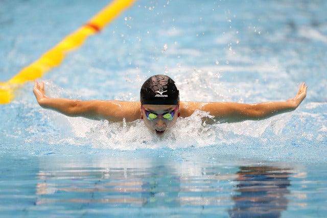 第6回世界ジュニア水泳選手権で女子50mバタフライに出場した池江璃花子(2017年8月25日)(c) Getty Images