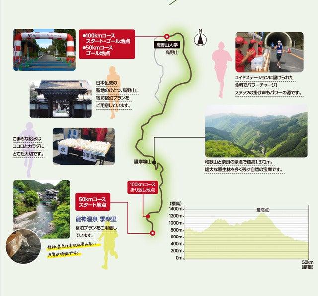 標高差812mのコースを駆け抜ける「高野山・龍神温泉ウルトラマラソン」2018年開催