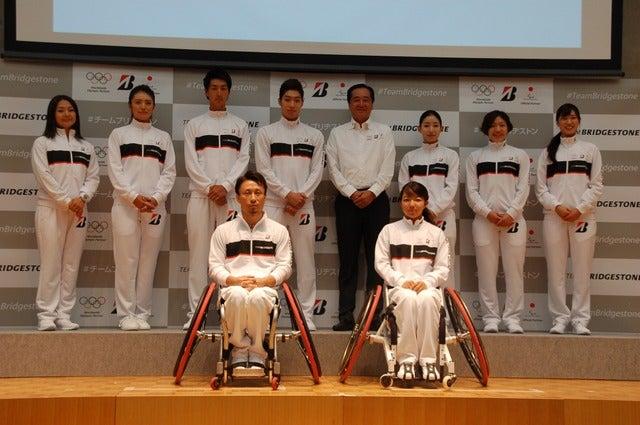 「Team Bridgestone」発足アンバサダー会見(2017年8月31日)撮影:北川雄太