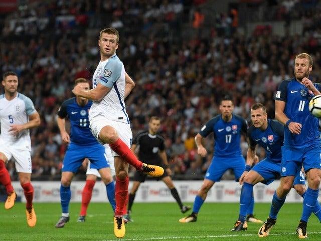 同点ゴールを挙げたイングランド代表エリック・ダイアー(2017年9月4日)(c) Getty Images