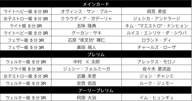 「UFC ファイトナイト・ジャパン」をダ・ゾーンがライブ放映