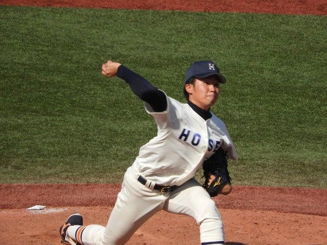法政大・熊谷君(4年・平塚学園)撮影:手束仁