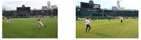 特別イベント「甲子園球場でキャッチボールをしよう!」開催…甲子園歴史館