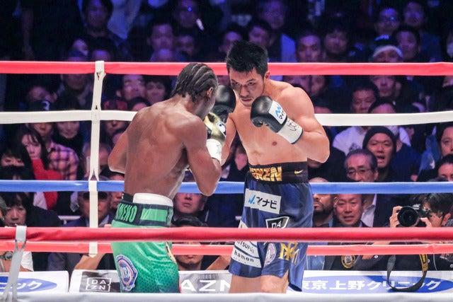 WBA世界ミドル級タイトルマッチ アッサン・エンダム vs 村田諒太(2017年10月22日)撮影:五味渕秀行