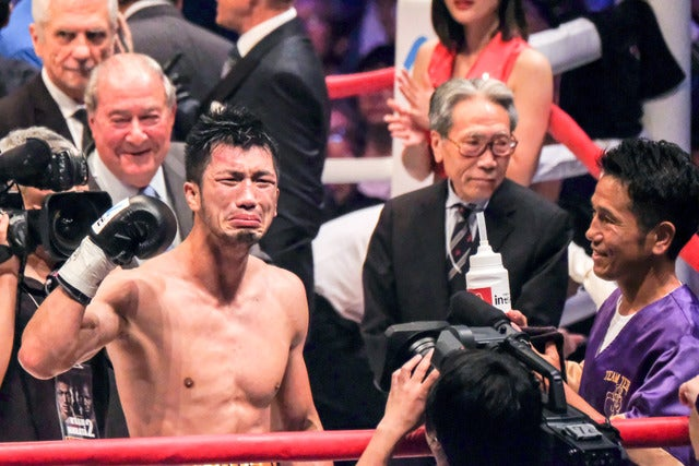 村田諒太がWBA世界ミドル級新チャンピオンに(2017年10月22日)撮影:五味渕秀行