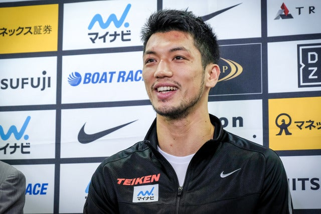 WBA世界ミドル級新チャンピオンの村田諒太(2017年10月23日)撮影:五味渕秀行