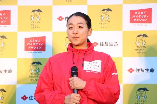 皇居ランを行なった浅田真央(2017年11月24日)撮影: 山本有莉