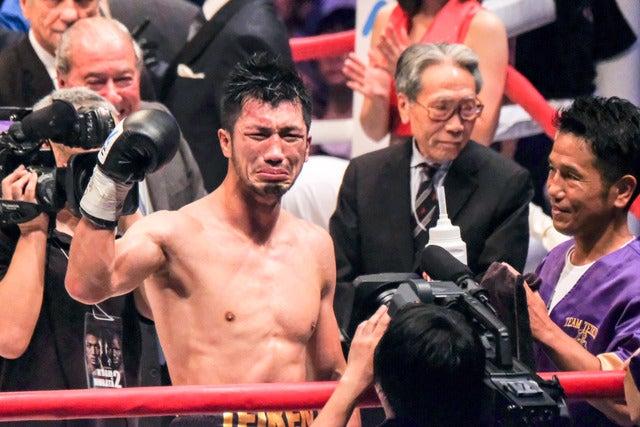 WBA世界ミドル級王者を獲得した村田諒太(2017年10月22日)撮影:五味渕秀行