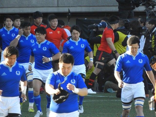 2018年正月の大学ラグビー撮影:手束仁