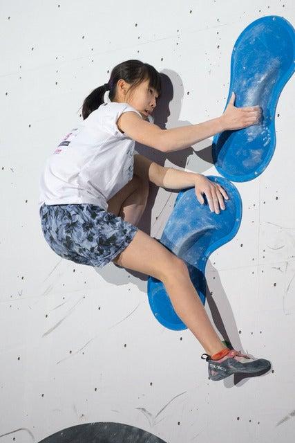 第13回ボルダリングジャパンカップで女子6位の谷井菜月(2018年2月4日)撮影:五味渕秀行