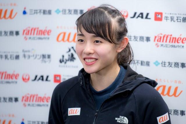 第13回ボルダリングジャパンカップで女子3位の伊藤ふたば(2018年2月4日)撮影:五味渕秀行