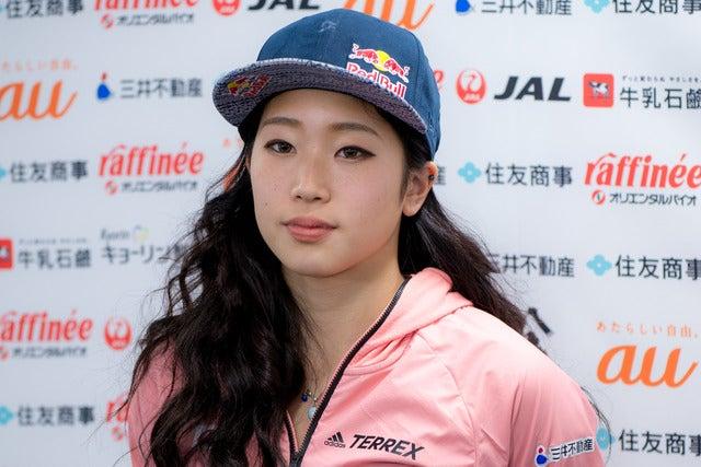 第13回ボルダリングジャパンカップで女子4位の野中生萌(2018年2月4日)撮影:五味渕秀行