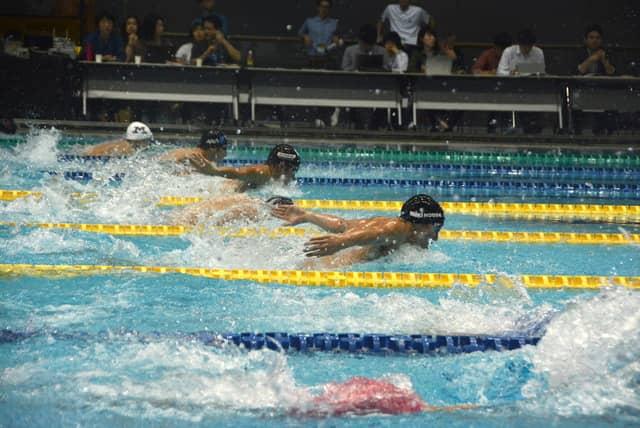 競泳のコナミオープン撮影:大日方航