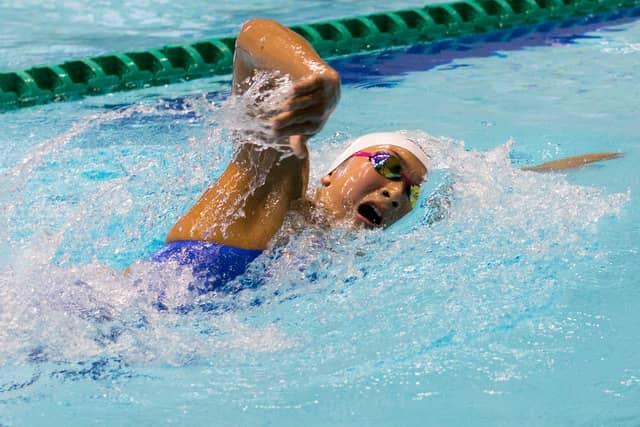 第34回コナミオープンで女子400m自由形予選を泳ぐ池江璃花子(2018年2月18日)撮影:五味渕秀行