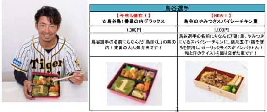 阪神・金本監督&選手プロデュースのメニューが甲子園に登場