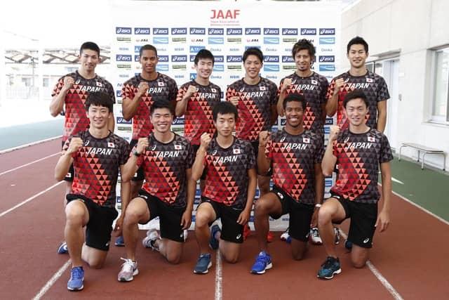 男子100mリレー日本代表チーム、...