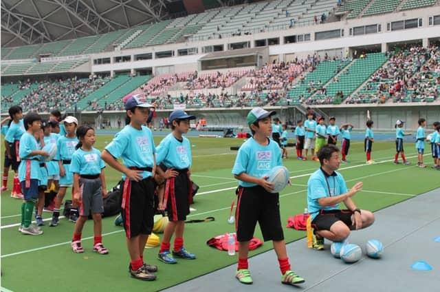 小学生タグラグビー教室「AIG Tag Rugby Tour」が東京、名古屋、大阪で開催
