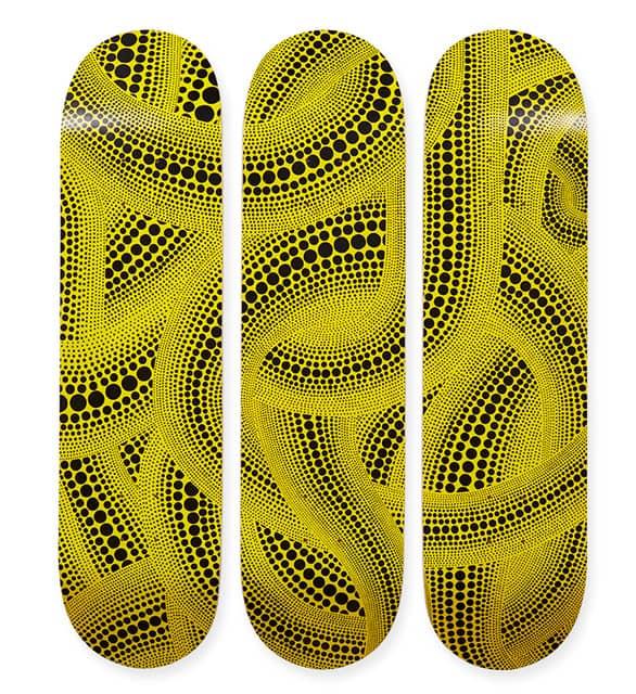 草間彌生×MoMA コラボレーションスケートボード、先行販売が決定
