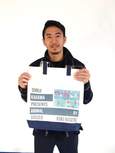 パラリンアートと香川真司、五郎丸歩らとのコラボトートバッグ限定発売