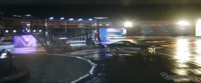 トヨタ・スープラ 新型の米CM「ウィザード(Wizard)」(動画キャプチャ)