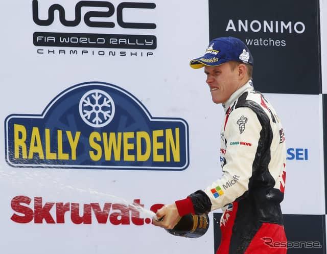 今季初勝利のタナクはドライバーズランキング首位に浮上した。《写真提供 TOYOTA》