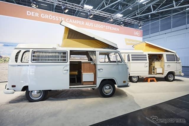 VW T2 のキャンピングカーの実物大レゴブロック仕様