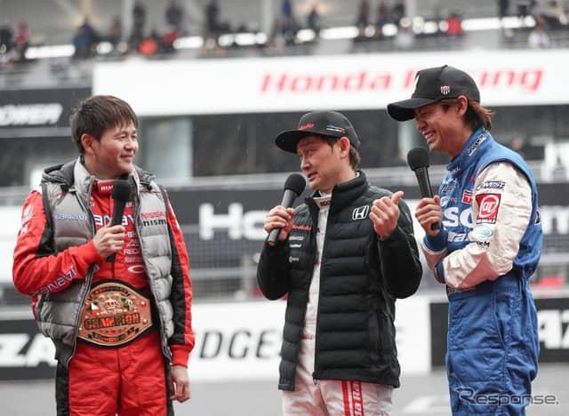 本山(左)と脇阪(右)が1勝ずつしたが、チャンピオンベルトは本山が獲得。《撮影 益田和久》