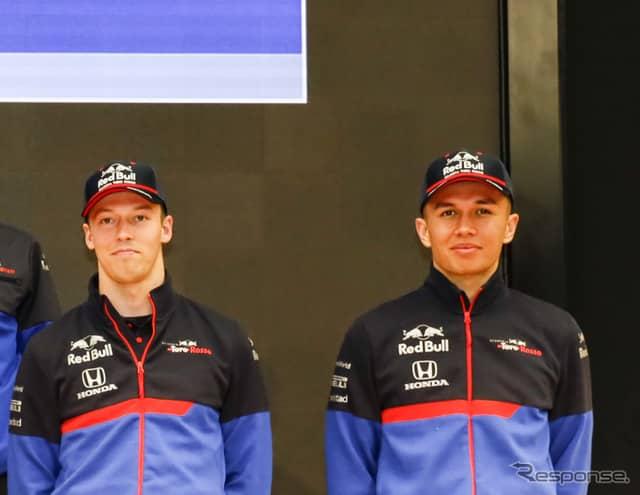 トロロッソのクビアト(左)とアルボン。《写真提供 Honda》