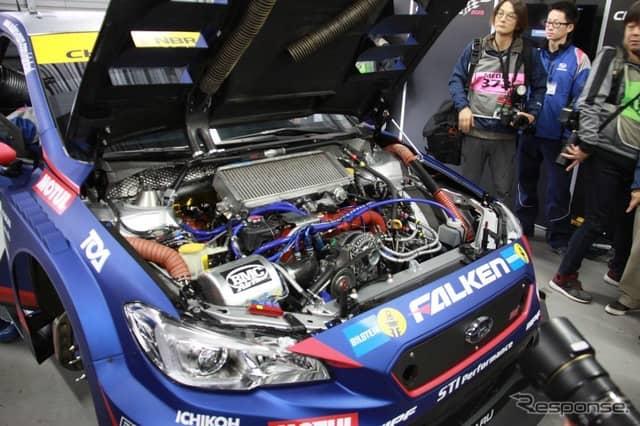 STIのNBR24参戦車両のシェイクダウンで、ヴァン・ダム選手とシュリック選手が新型車の感触をためす≪撮影:中尾真二≫