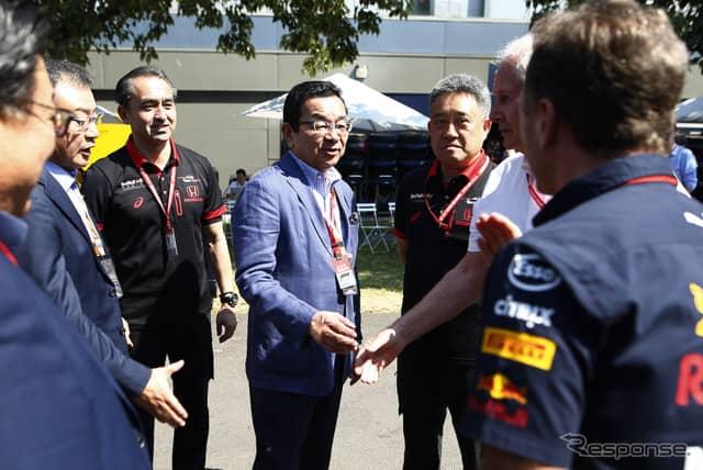 ホンダの八郷社長もオーストラリアGPを訪れた。《写真提供 Honda》