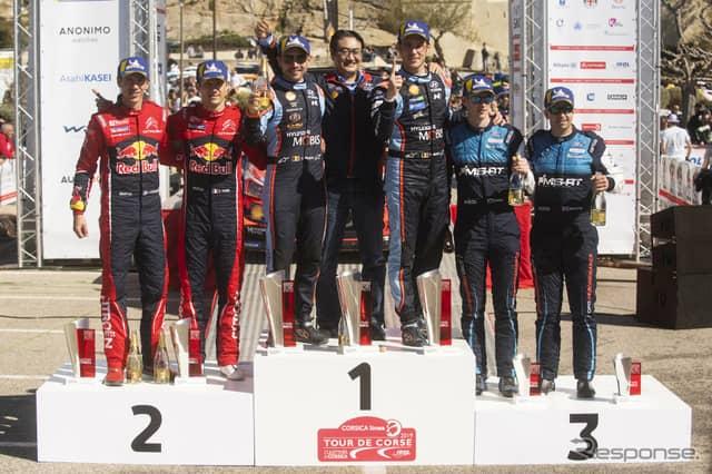 WRC第4戦の表彰式。《写真提供 Red Bull》
