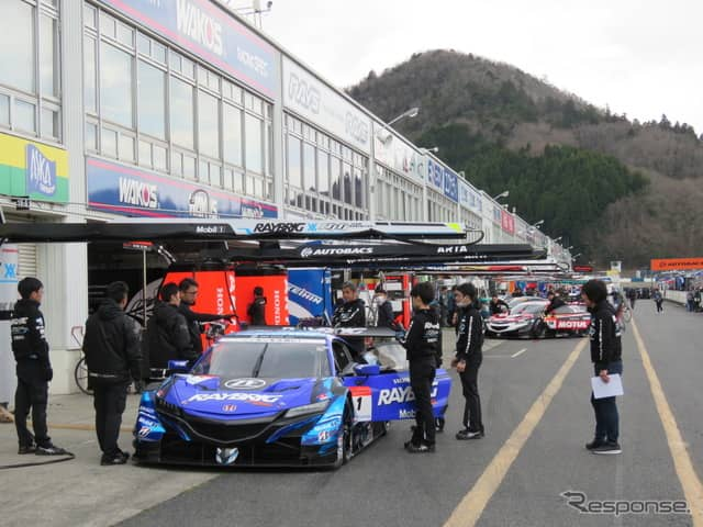 GT500クラスの連覇を狙う#1 NSX。《撮影 遠藤俊幸》