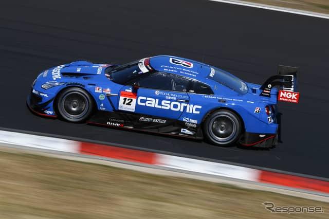 GT500クラス予選2位の#12 GT-R。《撮影 益田和久》