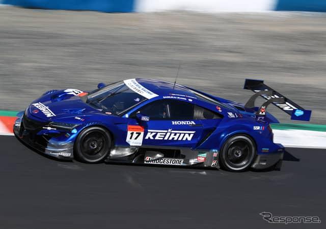 GT500クラス予選4位の#17 NSX。《撮影 益田和久》